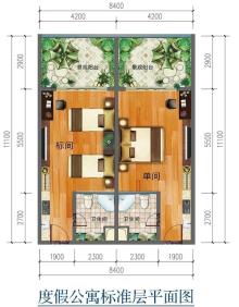 三期四组团苍洱时光度假公寓户型图