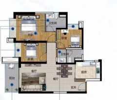 3室2厅2卫101m²精装修